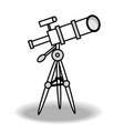 line telescope icon isolated vector image