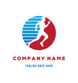 man silhouette run sprint sport competition club vector image vector image