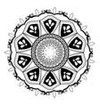mandala vintage decoration classic circular design vector image vector image