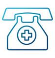 medical emergency line vector image