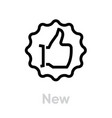new thumb up icon editable line vector image vector image