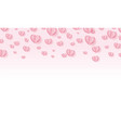 origami pink hearts background valentines day card vector image