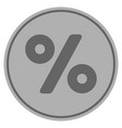 percent silver coin vector image vector image