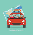 planning summer vacations vector image vector image