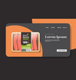 plant based vegetarian sausages in packaging vector image
