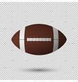 realistic flying football closeup isolated vector image