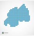 rwanda map and flag icon vector image