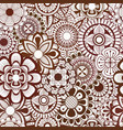 seamless pattern with floral element henna style vector image vector image