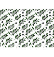 seamless pattern with olive branch hand-drawn vector image vector image