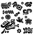 set ancient american ornaments vector image vector image