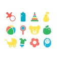 Set of baby objects colorful icon vector image vector image