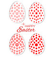 set of stylish easter eggs on a white background vector image