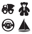 set of toys vector image vector image