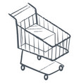 shopping card trolley monochrome sketch icon vector image vector image