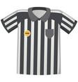 sport uniform striped jersey soccer referee shirt vector image