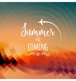 Summer is coming background Summer travel rest vector image vector image