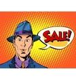 surprised man sale bubble vector image vector image