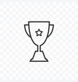 trophy champions cup icon on transparent vector image
