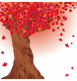 valentine tree heart vector image vector image