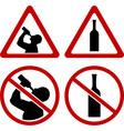 warning signs alcohol vector image