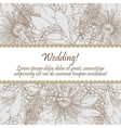 Wedding card with seamless pattern of lily flowers vector image vector image