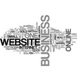 what does your website say about your business vector image vector image