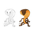 with a cobra humanoid creature vector image vector image