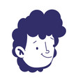 young man face male character cartoom isolated vector image