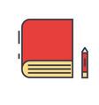 book study learn library e-book bookstore vector image