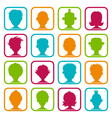 Colorful Man and Woman Avatars vector image