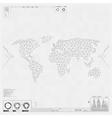 Polygonal world map Global communication vector image
