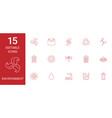 15 environment icons vector image vector image