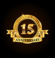 15 years anniversary celebration logotype vector image vector image