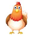 A big fat hen vector image