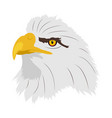 a eagles head in profile vector image