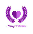 abstract love valentine logo vector image vector image