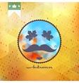 Autumn mostachos style poster design EPS 10