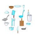 basic dishes icons set cartoon style vector image vector image