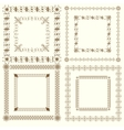 collection vintage calligraphic square frames vector image vector image