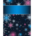 color christmas background with snowflakes vector image vector image