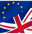color european union and united kingdom flags half vector image vector image