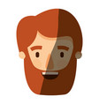 color image shading caricature front view bearded vector image vector image