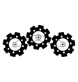 connected gears icon image vector image