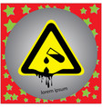 corrosive substance or acid warning sign vector image