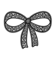 Decorative lacy bow on white background vector image