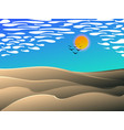 desert midday landscape cartoon vector image