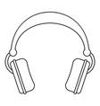 dj headphones icon outline style vector image vector image