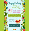 easter day happy holiday greeting poster template vector image vector image