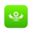 eco nature icon green vector image vector image