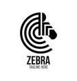example modern logo zebra head vector image
